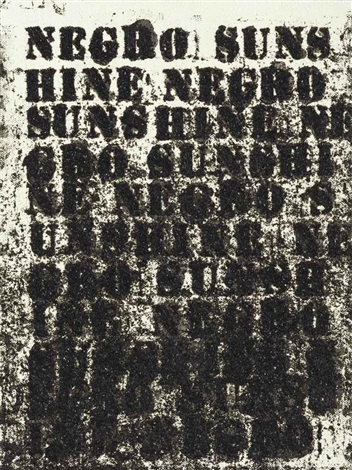 untitled negro sunshine by glenn ligon