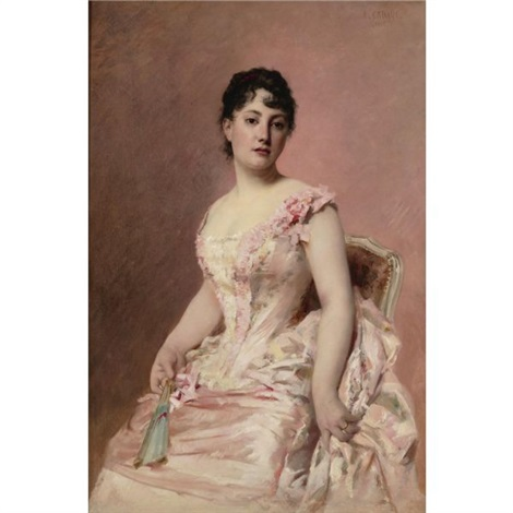 lady in pink by edouard cabane