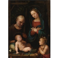 holy family with saint john the baptist by mariotto albertinelli