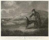 portrait of the celebrated greyhound snowball (after henry bernard chalon) by william ward i
