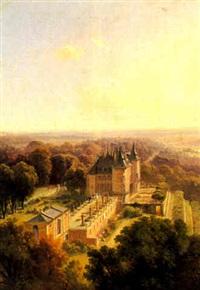 vue du château de randan, puy de dôme by jean-antoine-simeon fort