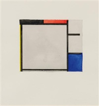 after piet mondrian by sherrie levine