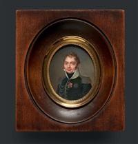 portrait du duc de berry en buste vers la gauche, presque de face, en uniforme de colonel du 16e régiment de chasseurs à cheval by jean baptiste jacques augustin