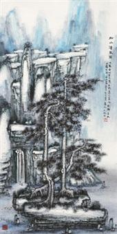 松山清泉图 by ji ren