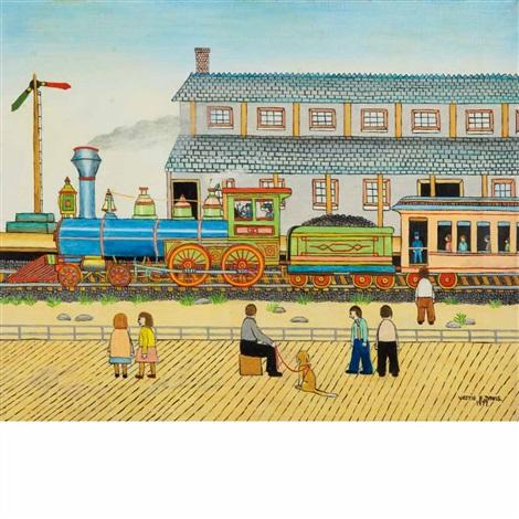 train in the station by vestie e davis