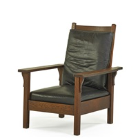 open arm morris chair by gustav stickley