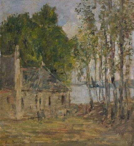 paysage study by eugène boudin