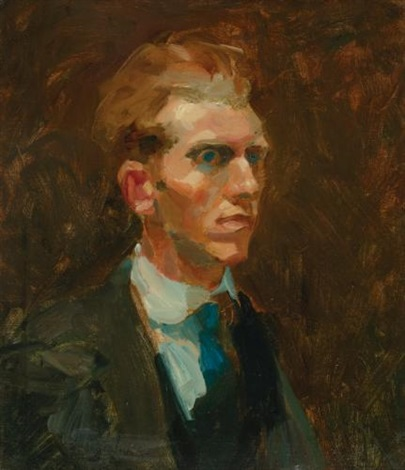portrait of a young man by george benjamin luks