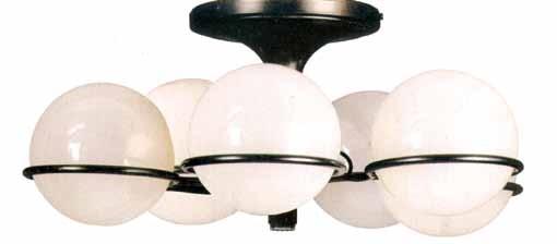 lampadario a sei luci 20426 by gino sarfatti