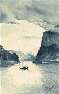gorge on river irawaddy north of mandalay, burma by henry george gandy