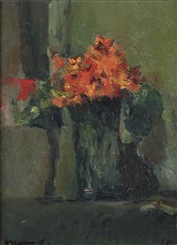flowers in a vase by kees verwey