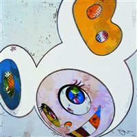 and then x6 (white: the superflat method, blue and yellow ears) by takashi murakami