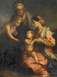 madonna and child with st. elizabeth and st. john the baptist by andrea del sarto