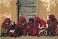 tajik children, xinjiang, china by michael s. yamashita