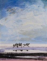 cavalier sur la plage by alain fournier