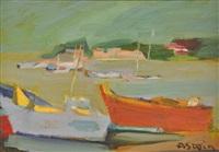 bateaux au port by marie astoin