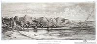nouvelle - zeland, presqu'ile de bank by charles meryon