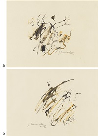 untitled (2 works) by jagdish swaminathan