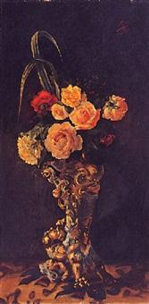 jarrón con flores by mariano millan velasco