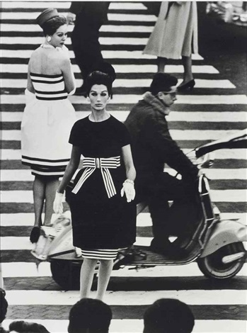 piazza di spagna simone nina rome for american vogue april by william klein