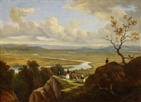 the valley of the connecticut from mount holyoke, the oxbow by victor de grailly