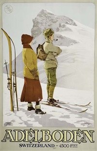 adelboden by posters: sports - skiing