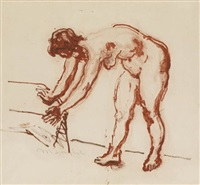 female nude by moses soyer