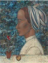portrait de femme au turban by pierre henry