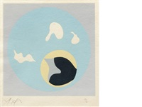 twelve plates (from le soleil recerclé (12 works)) by hans arp
