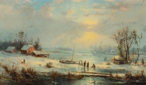 winter landscape by régis françois gignoux