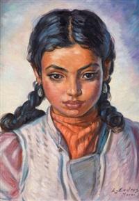 portrait de jeune fille marocaine by louis john endres