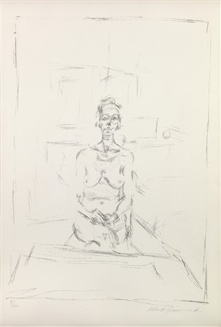 seated nude nu assis by alberto giacometti