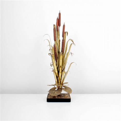 cattail lamp by maison jansen