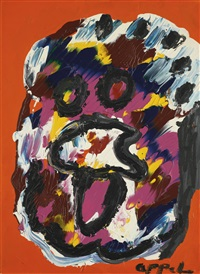 colorful face by karel appel