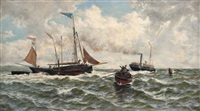bound for the north sea, (yarmouth roads) by thomas rose miles