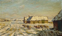 winter on sylt by franz korwan