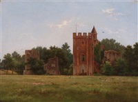 ruin of the castle of brederode by hendrik pieter koekkoek