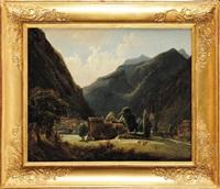 vue (ischia près de naples?) by francois antoine leon fleury