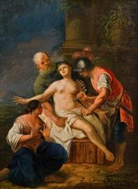 die marter der heiligen bibiana by johann zick