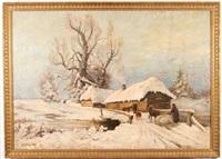 a winter twilight by vyacheslav pavlovich bychkov