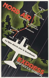 nord air express/air france - sabena by posters: aviation