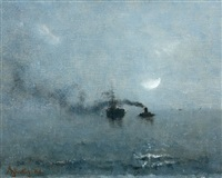 marine sous la lune by alfred stevens