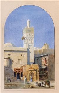 repos devant le minaret by alexandre-francois caminade