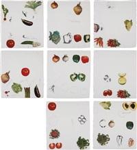 vegetables (set of 8) by jim dine