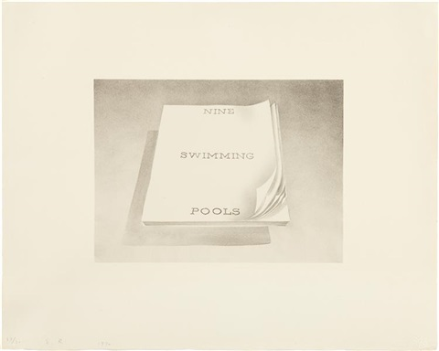 swimming pools from book covers series by ed ruscha