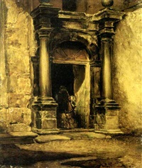 antico portale a venezia by mario de maria