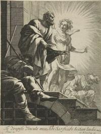 die befreiung des hl. petrus aus dem gefängnis (after simon vouet) by michel dorigny