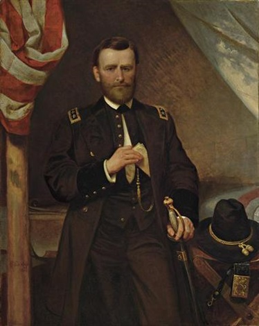 general ulysses s grant in his tent by emanuel gottlieb leutze