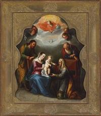 la sagrada familia con san joaquín y santa ana by juan rodríguez juárez