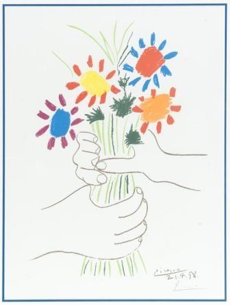 bouquet des fleurs by pablo picasso
